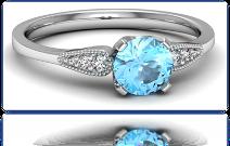 złoty pierścionek z akwamarynem