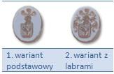 Sygnety rodowe z herbami - sygnetówka bez lambrów