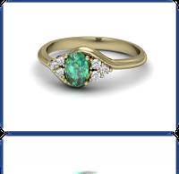 Złoty pierścionek ze szmaragdem i brylantami